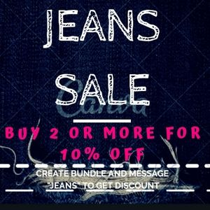 10% off 2 PAIR OF JEANS